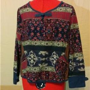 Tops - NEW Blouse Size M 100% Cotton Long Sleeve Top